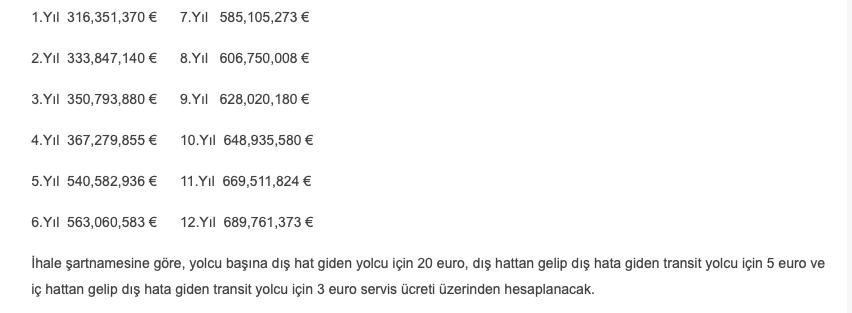 İstanbul Havalimanı Yolcu Garanti Ücretleri