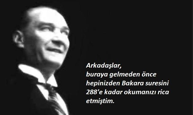 Atatürk'ün Din Adamlarını Bakara Suresi ile Test Ettiği İddiası