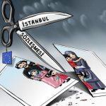 Mikail Çiftçi'nin İstanbul Sözleşmesiyle ilgili karikatürü